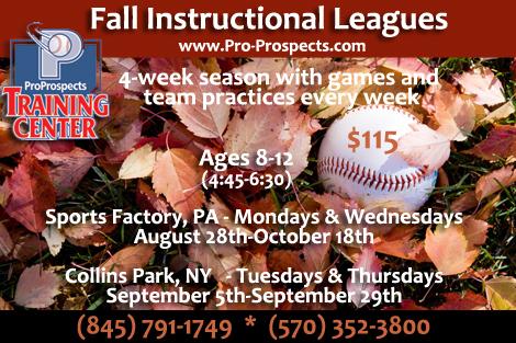 Pro Prospects Fall Instructional League - Session II @ Riverside Park