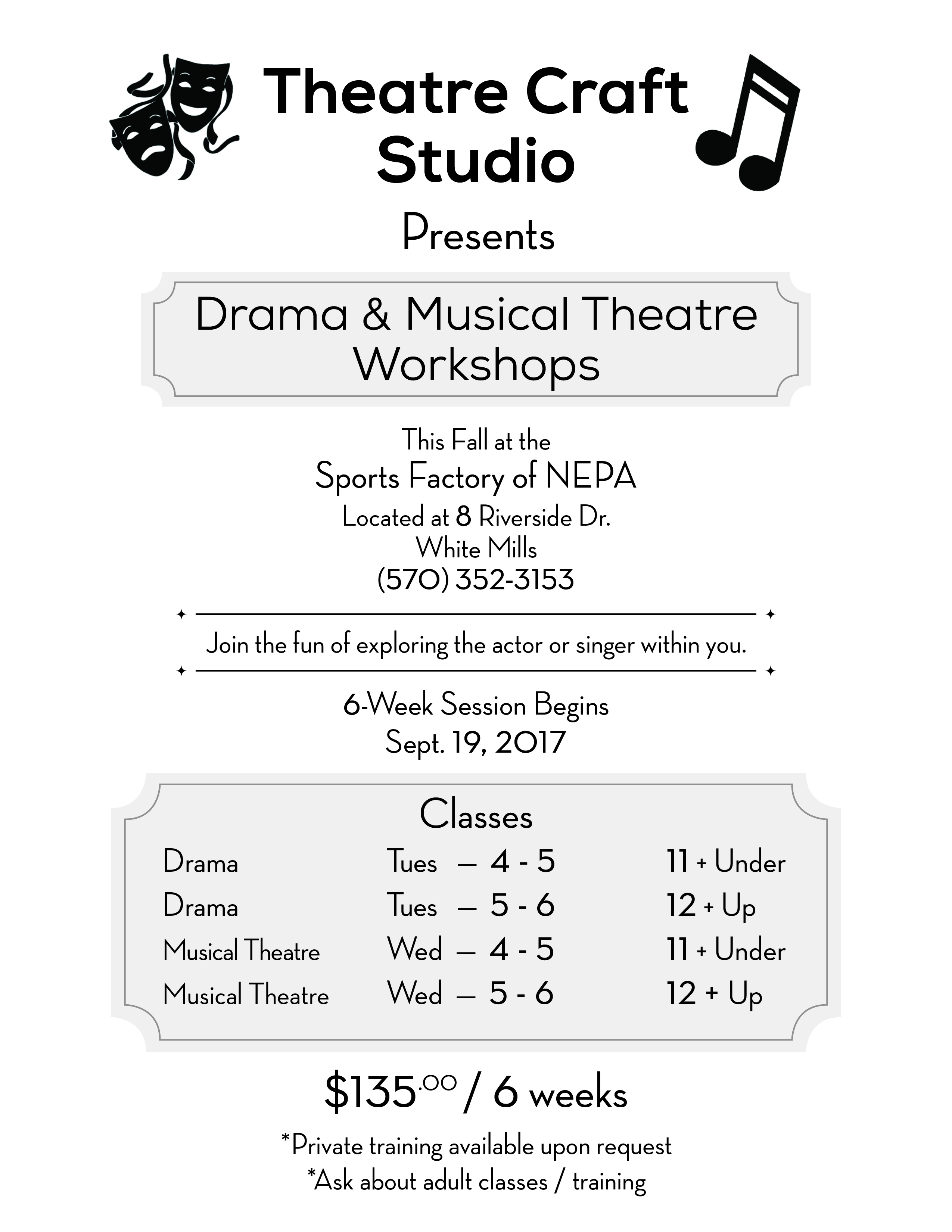 Theatre Craft Studio @ Small Studio @ The Sports Factory