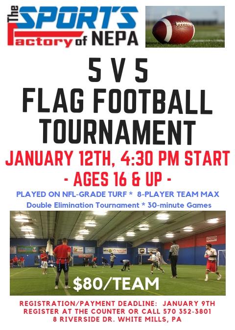 5 on 5 Flag Football Tournament