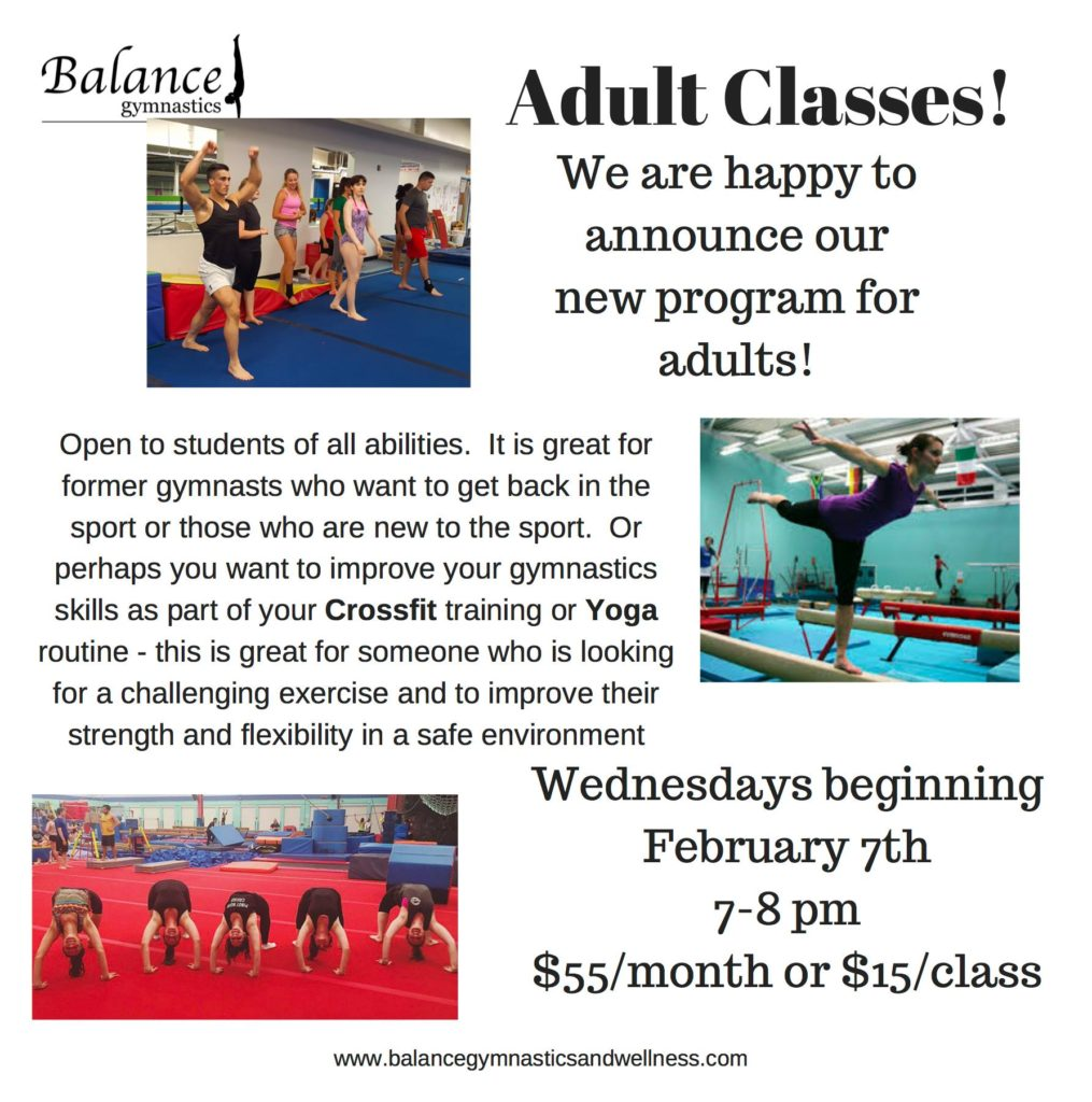 Balance Gymnastics Adult Classes
