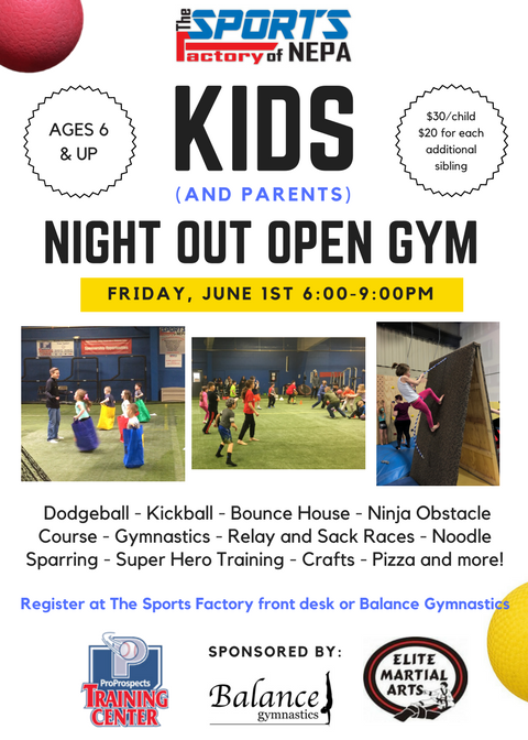 Kids Night Out Open Gym @ The Sports Factory
