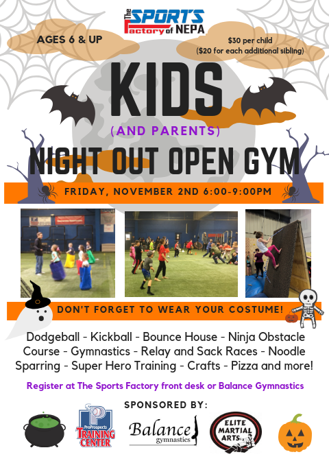 Kids Night Out @ The Sports Factory of NEPA