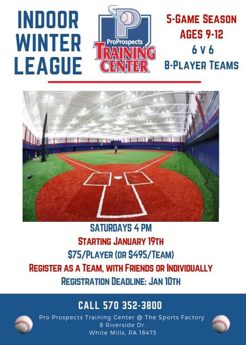 Indoor Winter Baseball League