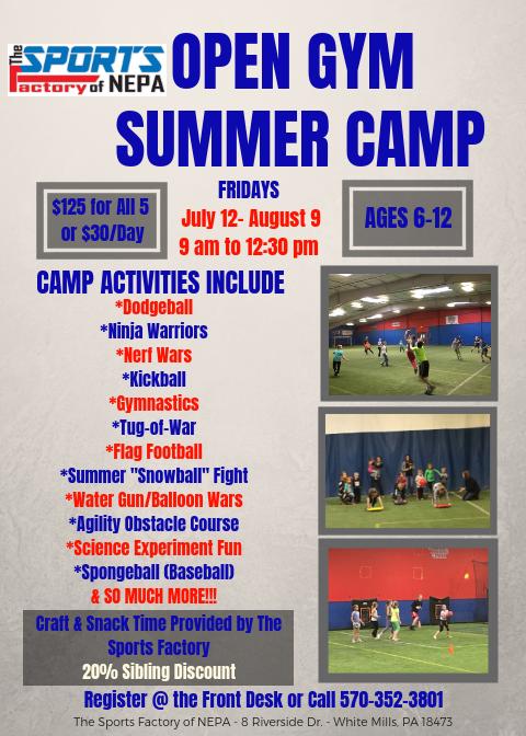 Open Gym Summer Camp